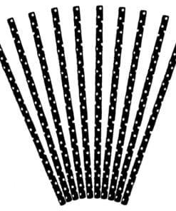 Black Dots Paper Straws