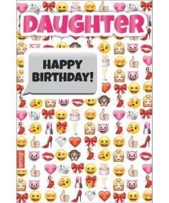 Emoji Daughter Birthday Card