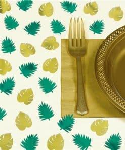 Foil Palm Leaf Table Scatters