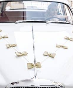 Hessian Bow Car Decoration Kit