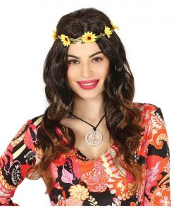 Hippie Wig with Flower Headband