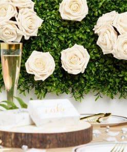Ivory Foam Rose Bud Decorations