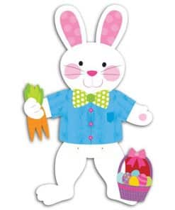 Jointed Card Easter Bunny Decoration