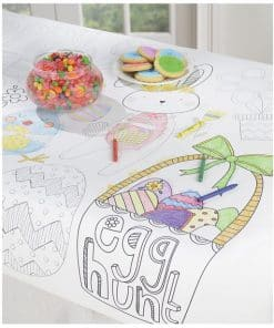 Kids Easter Colouring Tablecover