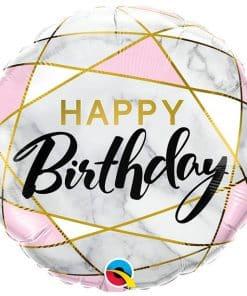 Marble Birthday Balloon