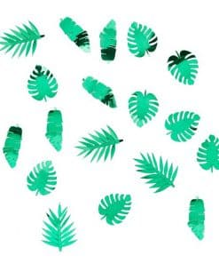 Metallic Tropical Leaf Confetti