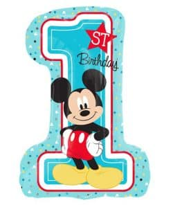 Mickey Mouse 1st Birthday SuperShape Balloon