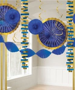 Midnight Blue Paper & Foil Decorations Pack