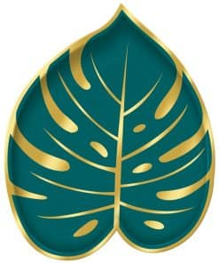 Palm Leaf Shaped Metallic Plates