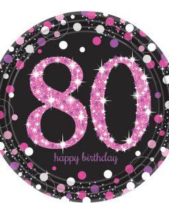 Pink Celebration Age 80