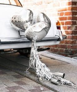 Silver Hearts Car Decoration Kit