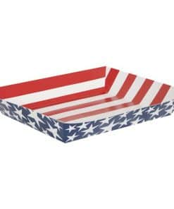 Stars and Stripes 4th of July Paper Snack Tray