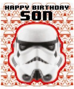 Stormtrooper Son Birthday Card