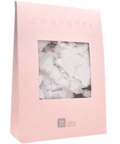 White Wedding Biodegradable Paper Confetti