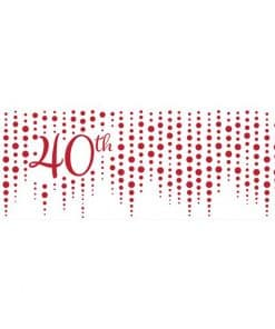 40th Ruby Sparkle & Shine Wedding Anniversary Giant Banner
