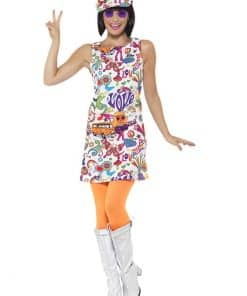 60s Groovy Chick Adult Costume