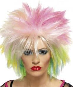 80's Blonde & Neon Wig