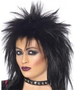 80's Rock Diva Wig Black Wig