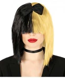 Black & Blonde Pop Star Wig