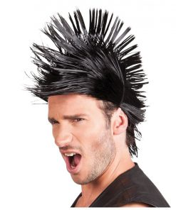 Black Spiky Punk Wig