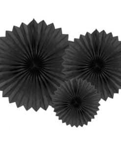 Black Tissue Paper Fans