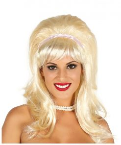 Blonde 60's Bob With Ribbon