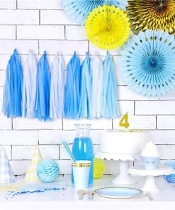 Blue Mix Tassel Garland Decoration