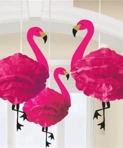 Fluffy Flamingo Hanging Decorations