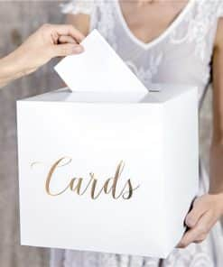 Gold Cards Wedding Post Box