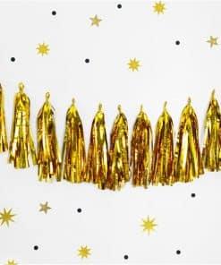 Gold Tassel Garland Decoration