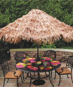 Hawaiian Tiki Natural Grass Effect Umbrella Cover