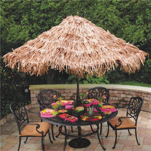 Hawaiian Tiki Natural Grass Effect Umbrella Cover