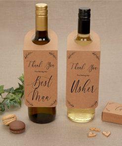 Hearts & Krafts Best Man & Usher Bottle Tag Wedding Favours