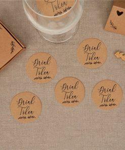 Hearts & Krafts Wedding Drinks Tokens