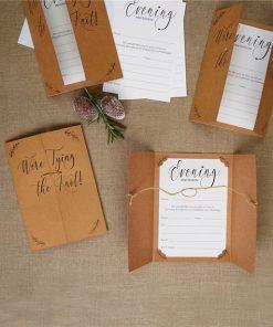 Hearts & Krafts Wedding Evening Invitations