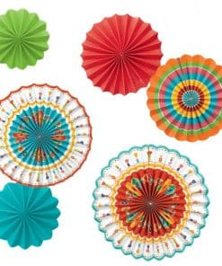 Mexican Fiesta Paper Fan Decorations