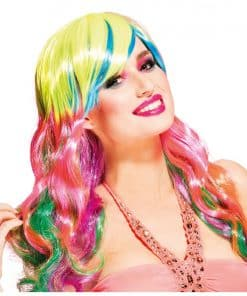 Neon Long Curly Wig
