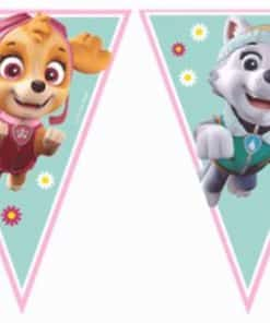 Pink Paw Patrol Party Bunting