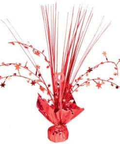 Red Foil Spray Table Centrepiece