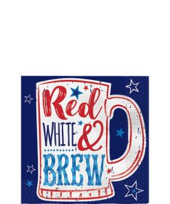 Red, White & Brew Beverage Napkins