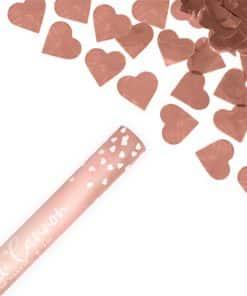 Rose Gold Hearts Confetti Cannon