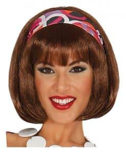 Short Brown 60's Wig
