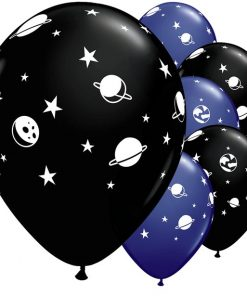 Space Print Latex Balloons