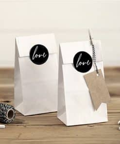 White Love Treat Bags