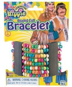 60s Hippie Beaded Cuff Bracelet