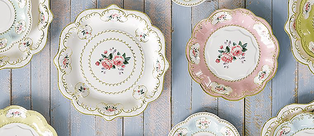 Afternoon Tea Disposable Napkins & Table Ideas for Tea Party at home - Next Day Delivery