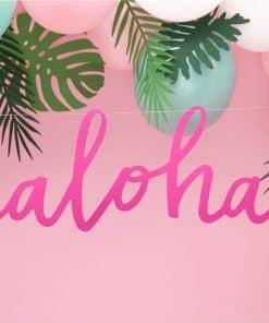 Aloha Pink Letter Banner