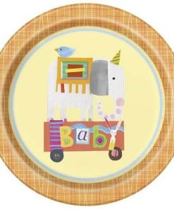 Circus Animals Themed Baby Shower & 1st Birthday Party Decorations - Cute pastel shades of Circus Animal fun.
