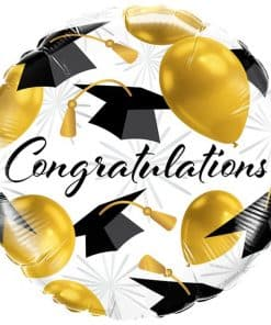 Congratulations Gold Balloons Graduation Balloon