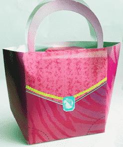 Glitzy Girl Handbag Shaped Favour Boxes